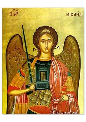 Archangel Michael hand painted icon - 40×50