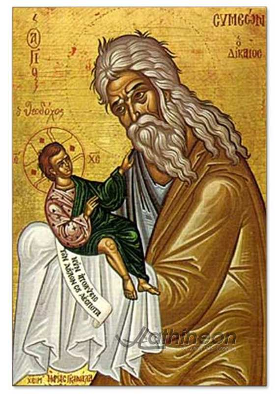 Saint Symeon The God-receiver hand painted icon - 25×35