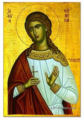 Saint Eunice hand painted icon - 30×40