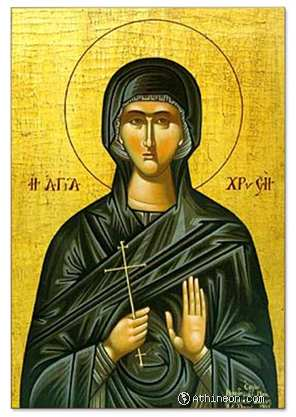 Saint Chryse hand painted icon - 40×50