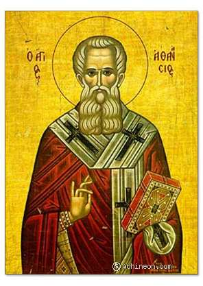 Saint Athanasius the great hand painted icon - 25×35
