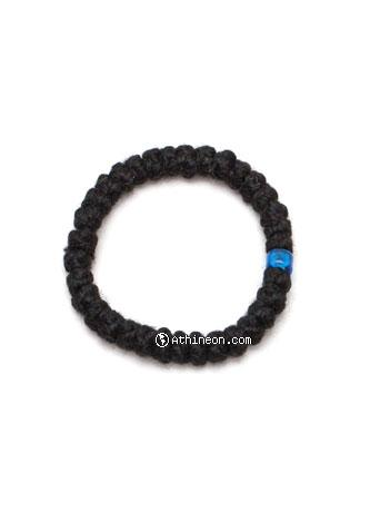 black with blue beads